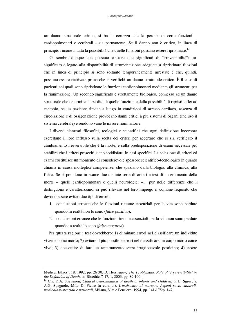 Anteprima della tesi: La questione della morte cerebrale nell'attuale dibattito bioetico, Pagina 8