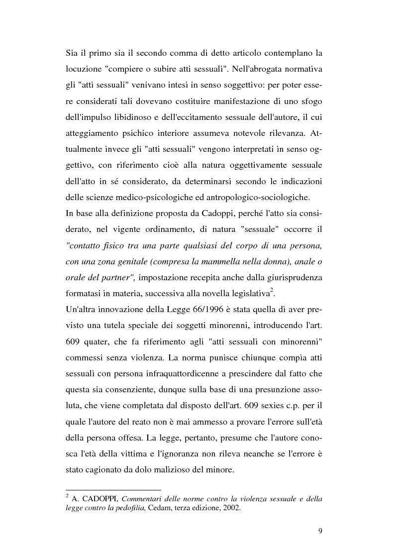 Anteprima della tesi: Il trattamento penitenziario dei condannati per violenza sessuale, Pagina 5