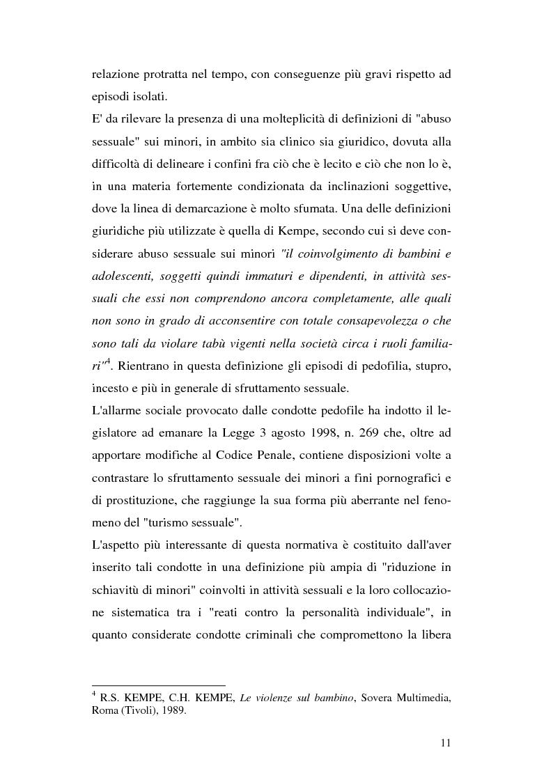 Anteprima della tesi: Il trattamento penitenziario dei condannati per violenza sessuale, Pagina 7