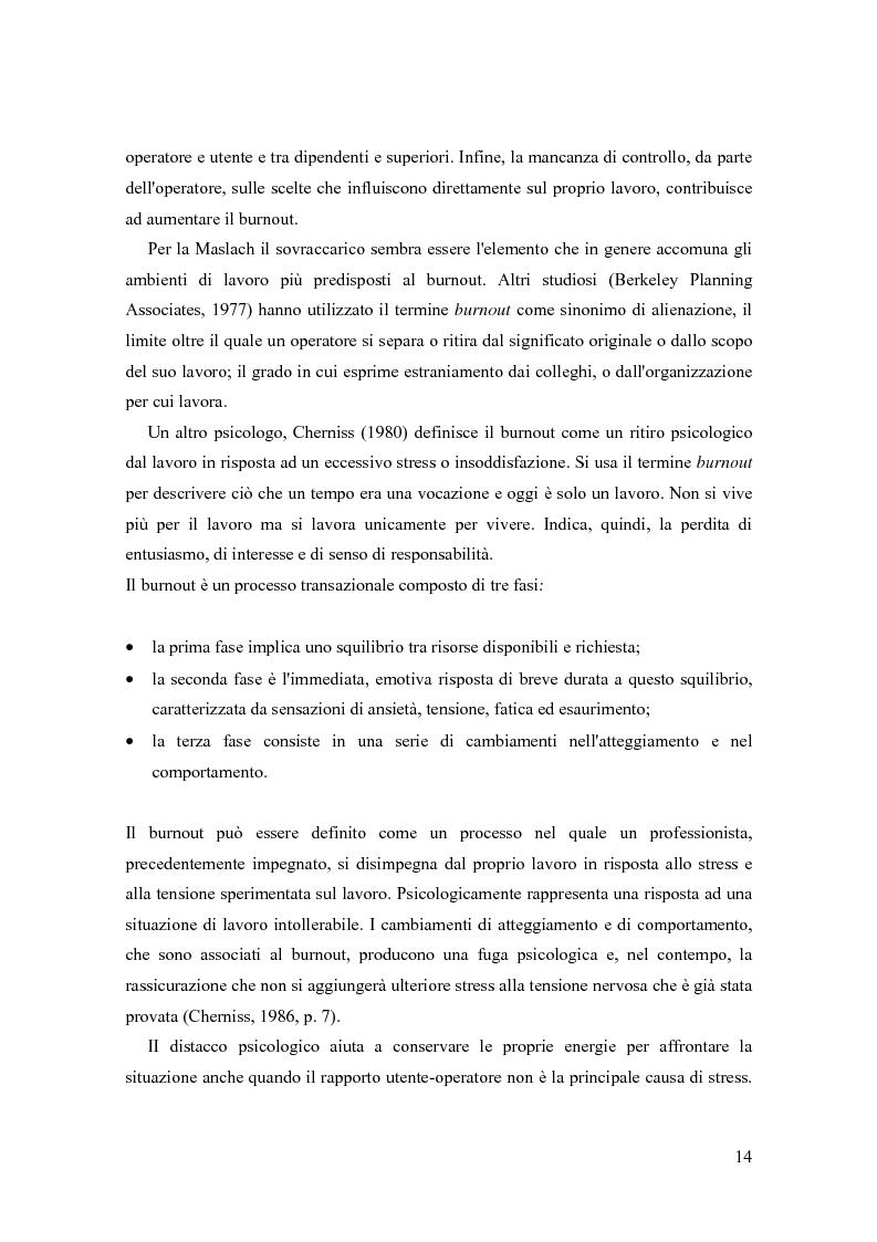 Anteprima della tesi: La sindrome del burnout nelle organizzazioni, Pagina 10