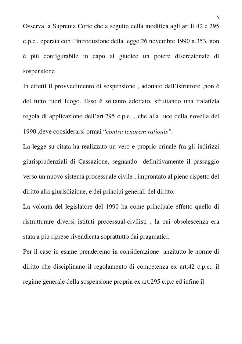 Anteprima della tesi: La sospensione necessaria del procedimento civile di cognizione, Pagina 4