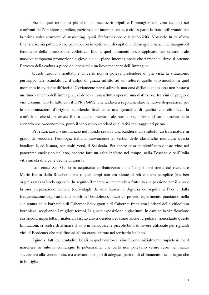 Anteprima della tesi: Strategie di valorizzazione di un vino e di un territorio: il Bolgheri Sassicaia, Pagina 3