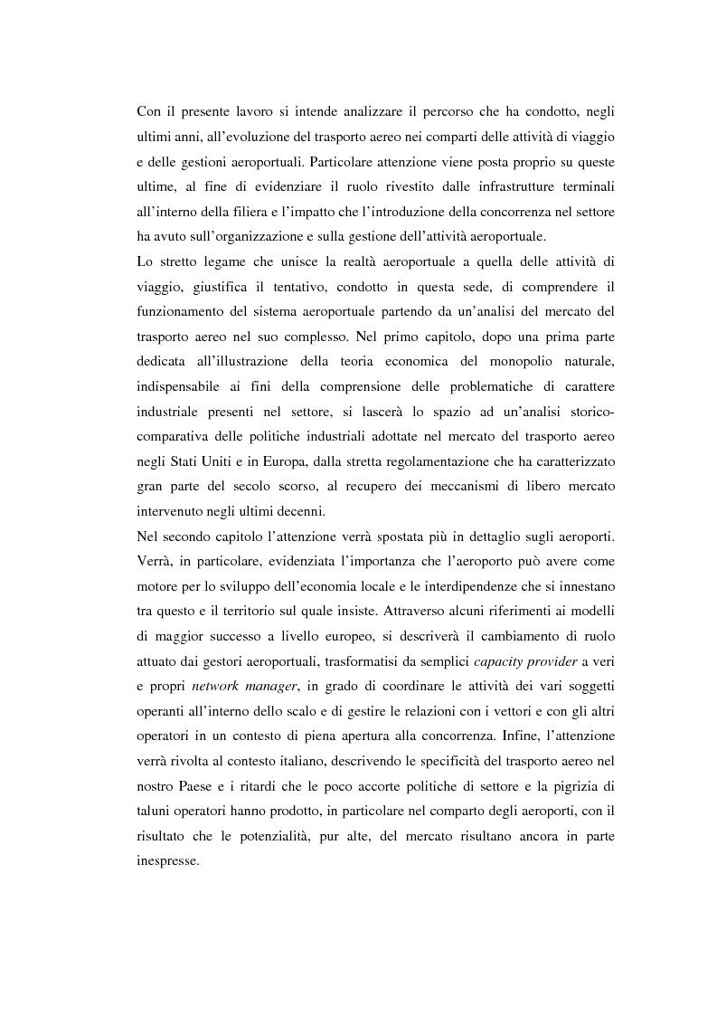 Anteprima della tesi: La Concorrenza nel Trasporto Aereo: Il Ruolo dell'Aeroporto, Pagina 4