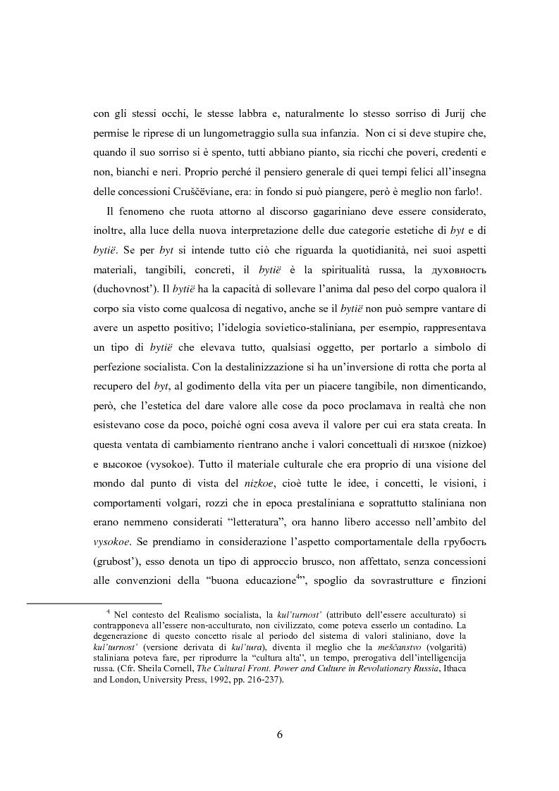 Anteprima della tesi: Il volo di Icaro 12 aprile 1961 Jurij Gagarin e il biglietto per il cosmo, Pagina 5