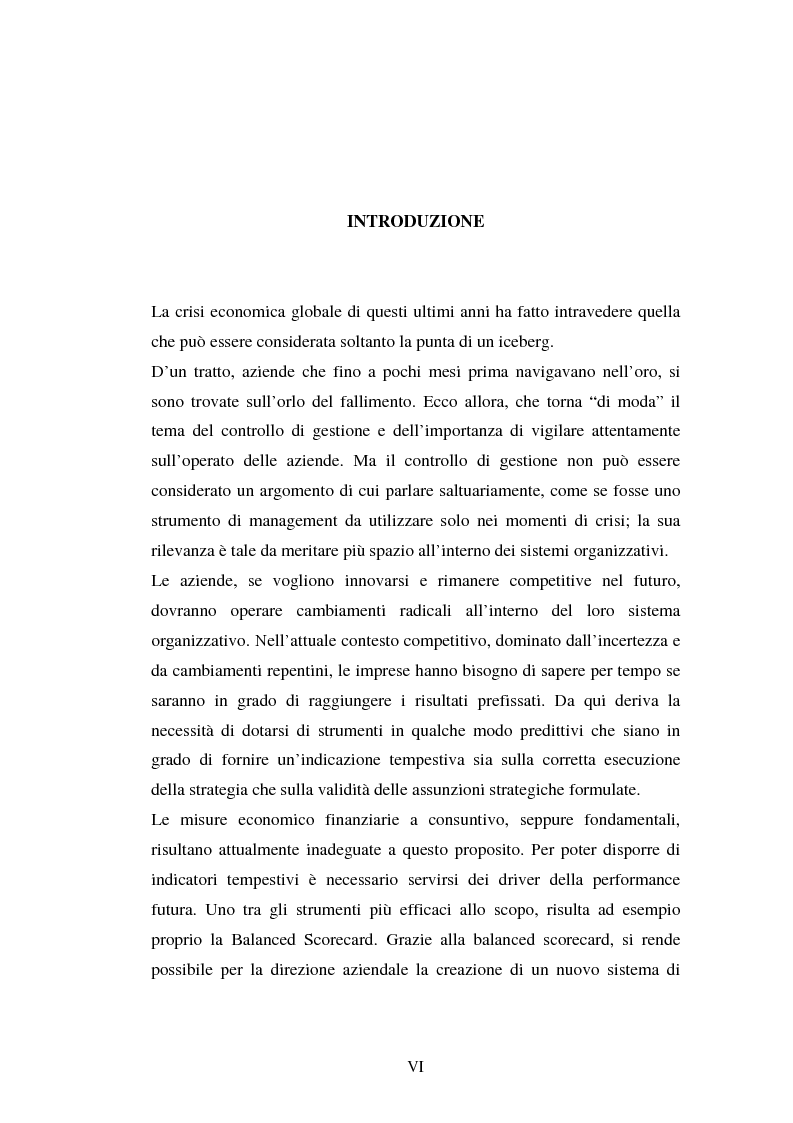 Anteprima della tesi: Il controllo di gestione delle imprese: aspetti teorici ed applicativi, Pagina 1