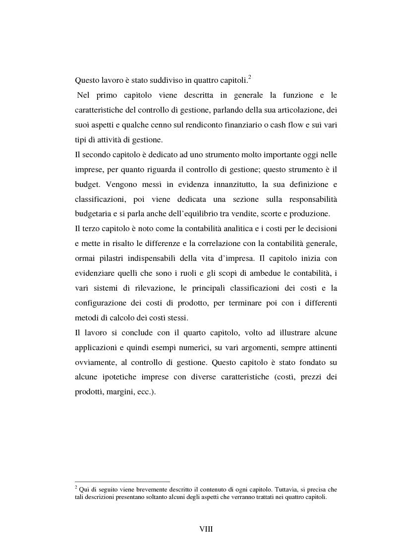 Anteprima della tesi: Il controllo di gestione delle imprese: aspetti teorici ed applicativi, Pagina 3