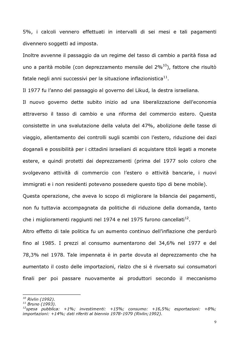Anteprima della tesi: L'economia israeliana nel 1990 e nel 2002 come economia di uno Stato in conflitto permanente, Pagina 7