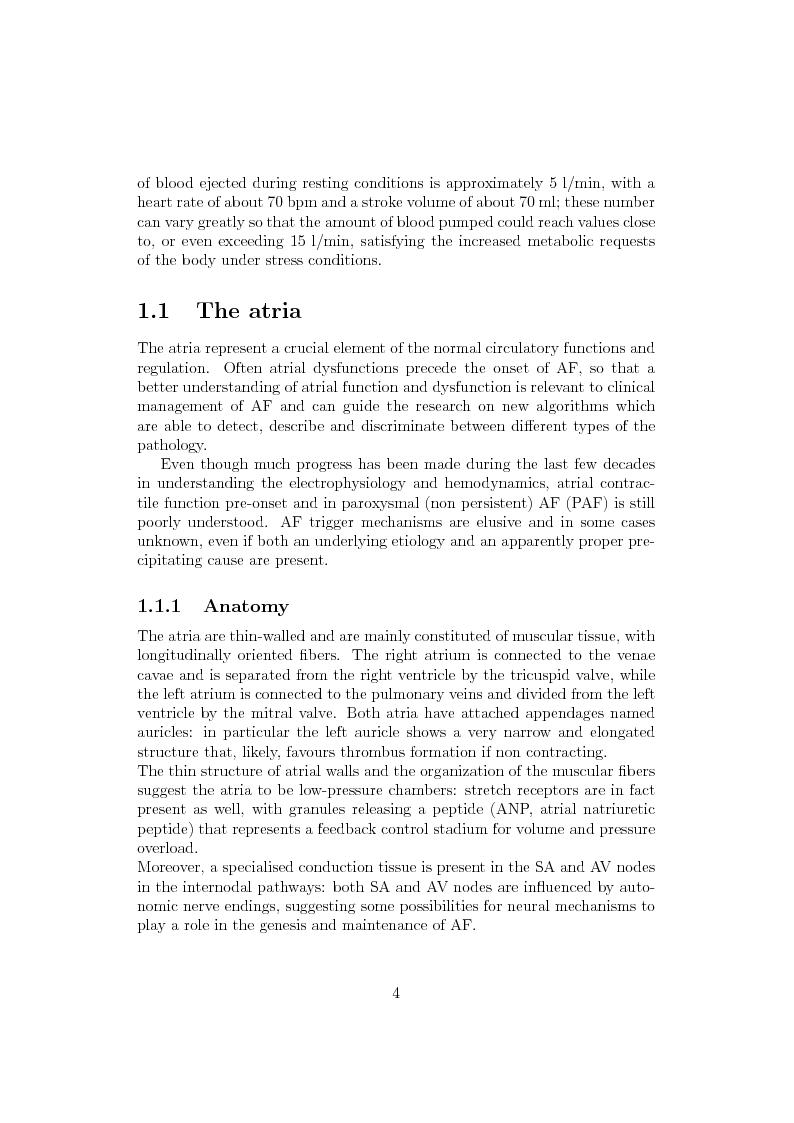 Anteprima della tesi: Typification of atrial organization in electrogram recordings, Pagina 2