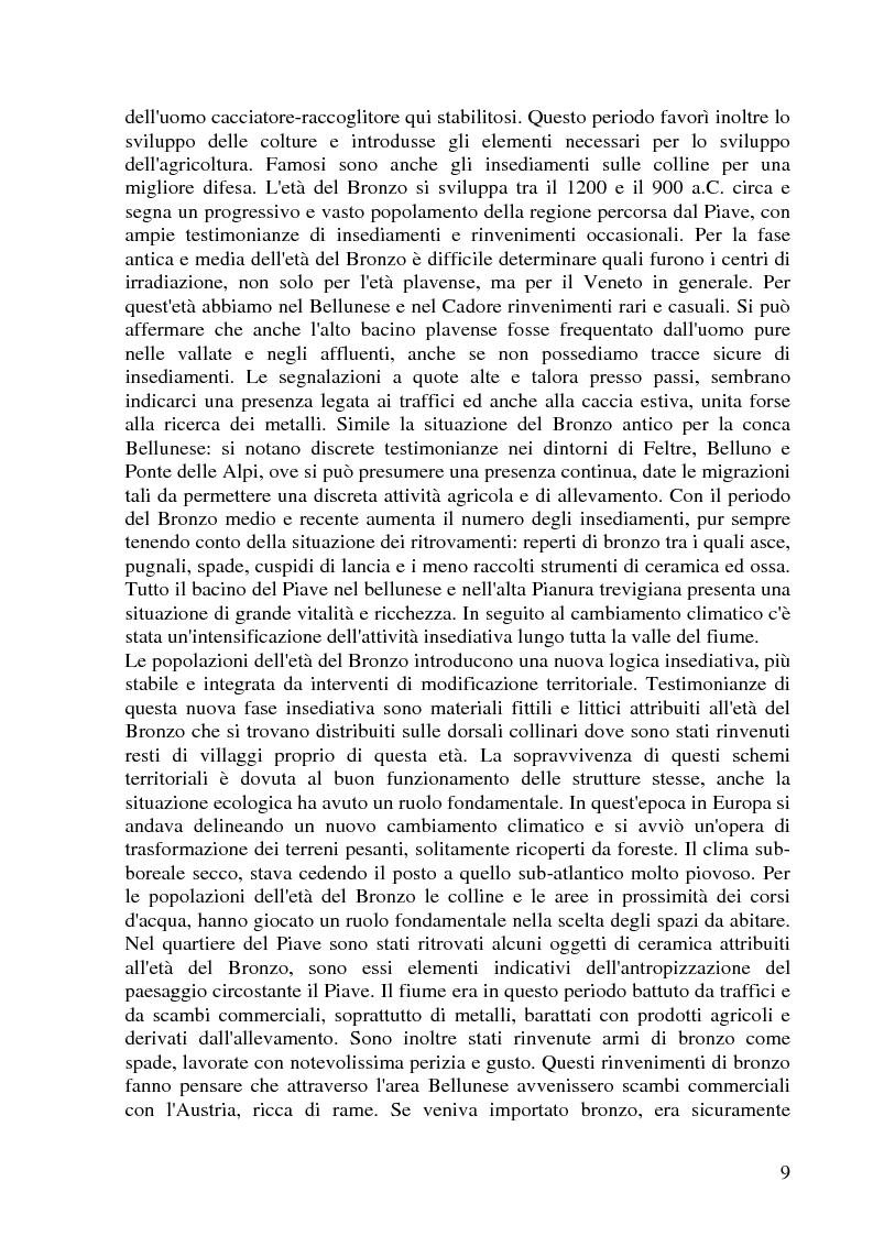 Anteprima della tesi: Conseguenze su territorio, economia e popolazione dello sfruttamento idroelettrico del Bacino del Piave: il caso del Vajont, Pagina 9