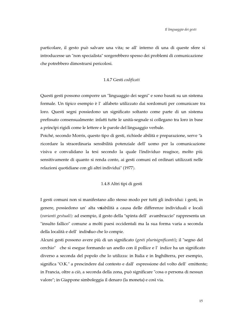 Estratto dalla tesi: I gesti e le componenti della comunicazione non verbale. Uno studio sulla gestualità nell'apprendimento