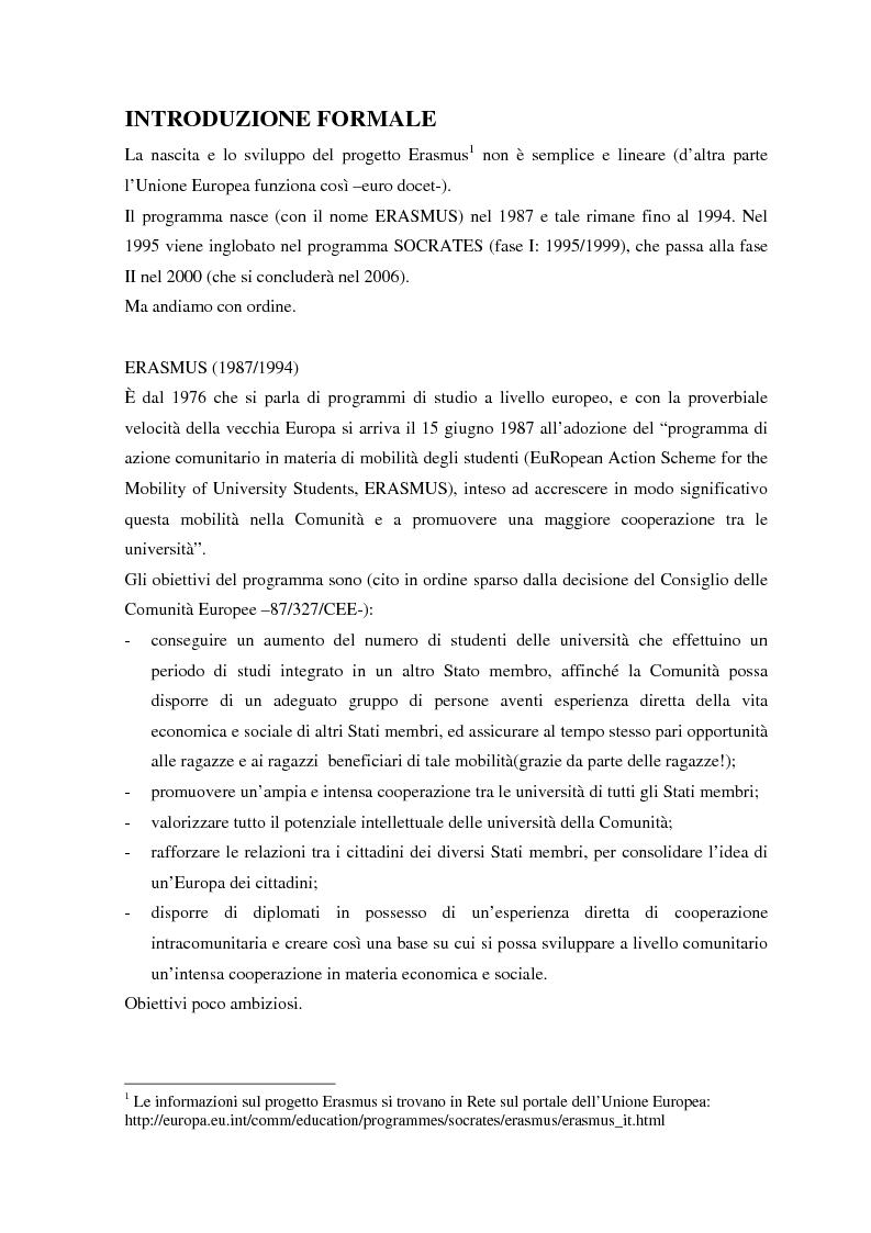 Anteprima della tesi: Antropologia dell'Erasmus. Partire studenti, vivere sballati, tornare uomini, Pagina 1