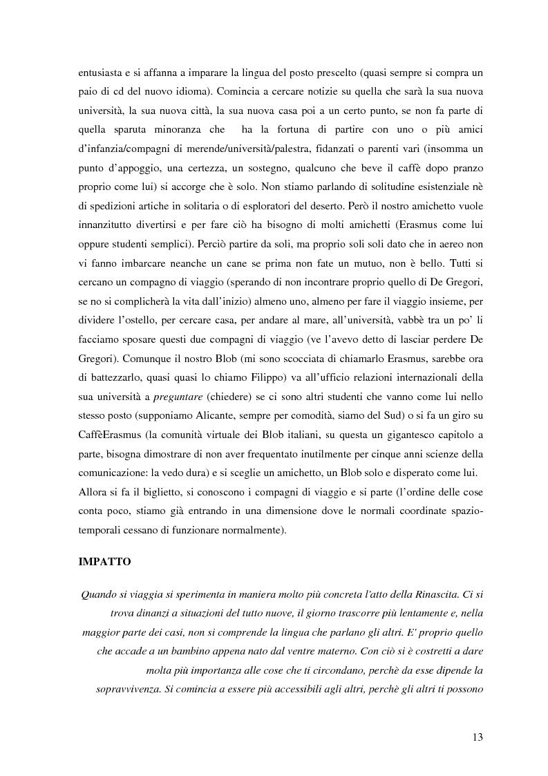Anteprima della tesi: Antropologia dell'Erasmus. Partire studenti, vivere sballati, tornare uomini, Pagina 11