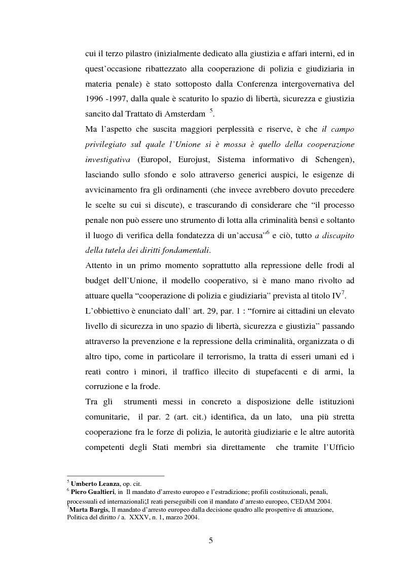 Anteprima della tesi: Mandato d'arresto europeo e diritti fondamentali., Pagina 3