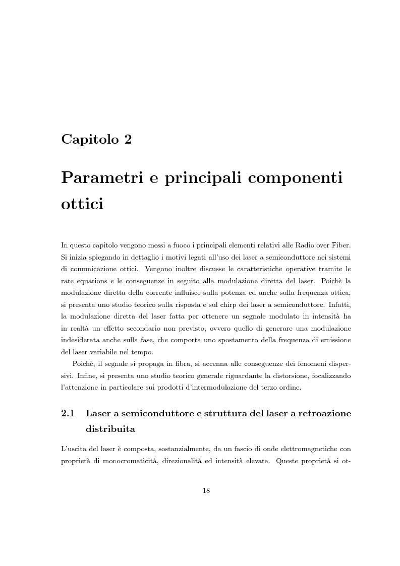 Anteprima della tesi: Fenomeni di intermodulazione in sistemi Radio over Fiber, Pagina 13