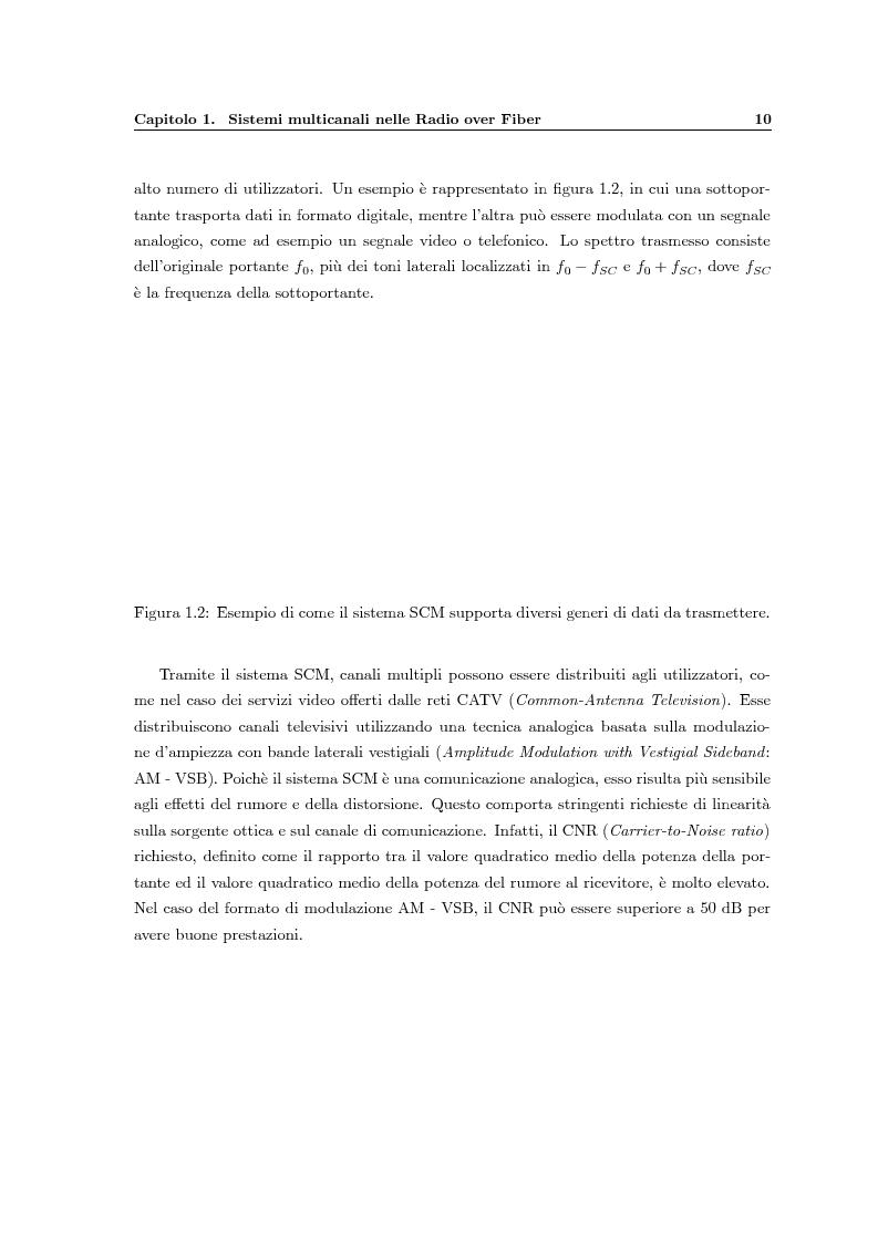 Anteprima della tesi: Fenomeni di intermodulazione in sistemi Radio over Fiber, Pagina 5