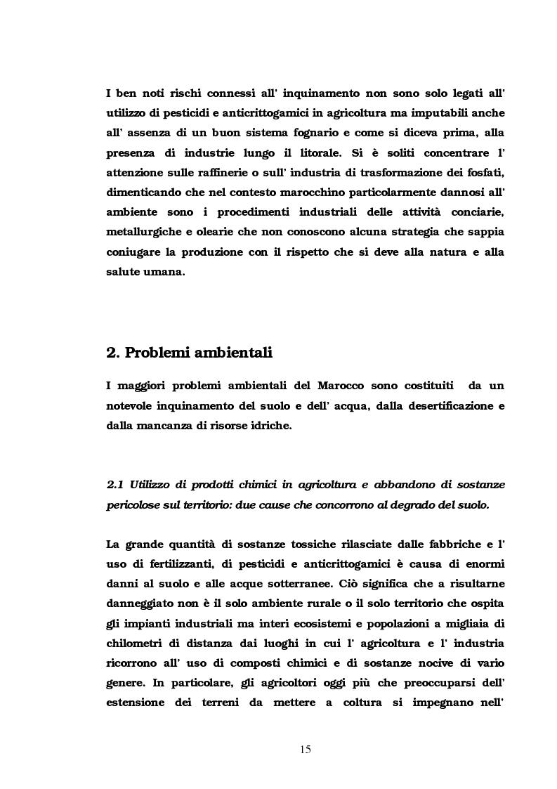 Anteprima della tesi: Problematiche e politiche ambientali nella Grande regione maghrebina, Pagina 15