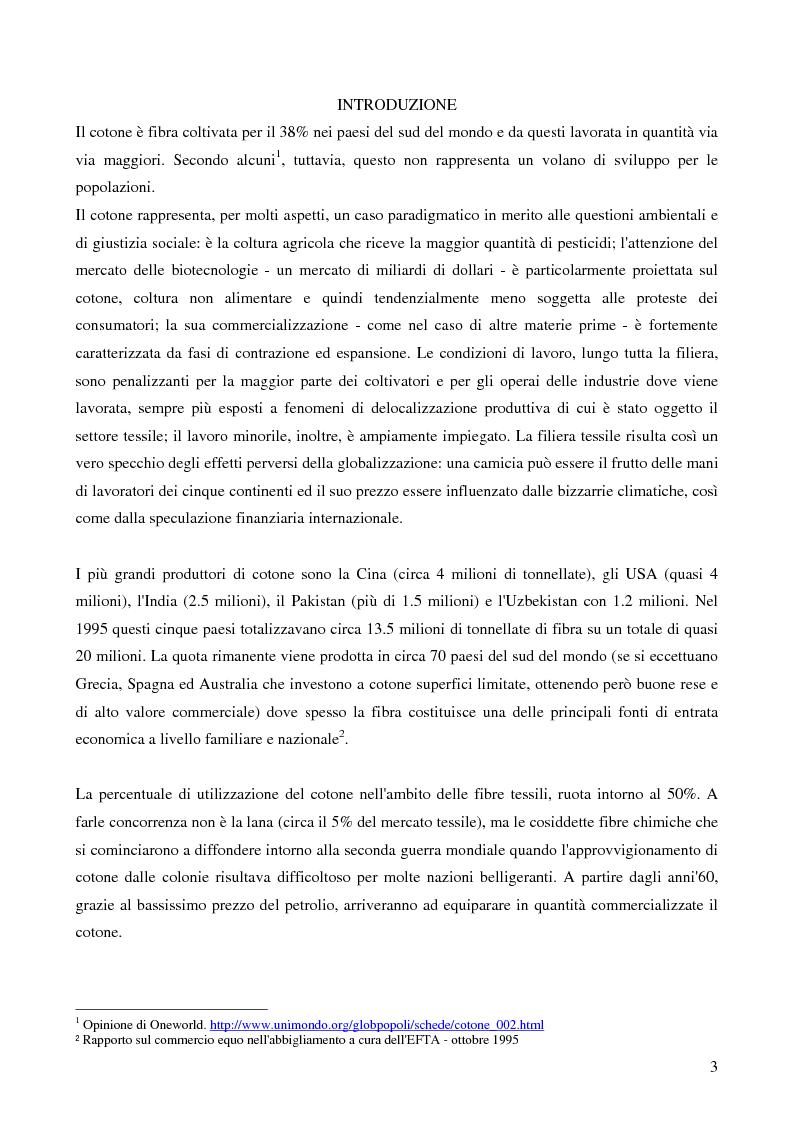 Anteprima della tesi: Il Protezionismo nel Settore del Cotone e gli effetti sull'economia dei paesi dell'Africa Sub-Sahariana, Pagina 1