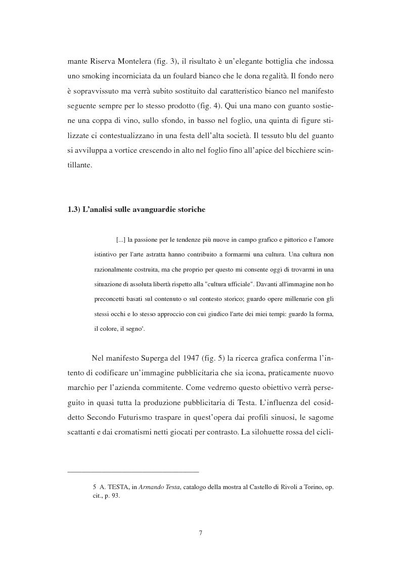 Anteprima della tesi: Grafica e pubblicità: l'esempio di Armando Testa, Pagina 7