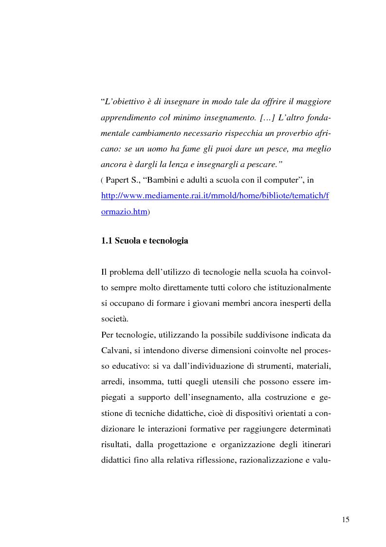 Anteprima della tesi: Le tecnologie dell'informazione e della comunicazione come ambienti di innovazione didattica, Pagina 15