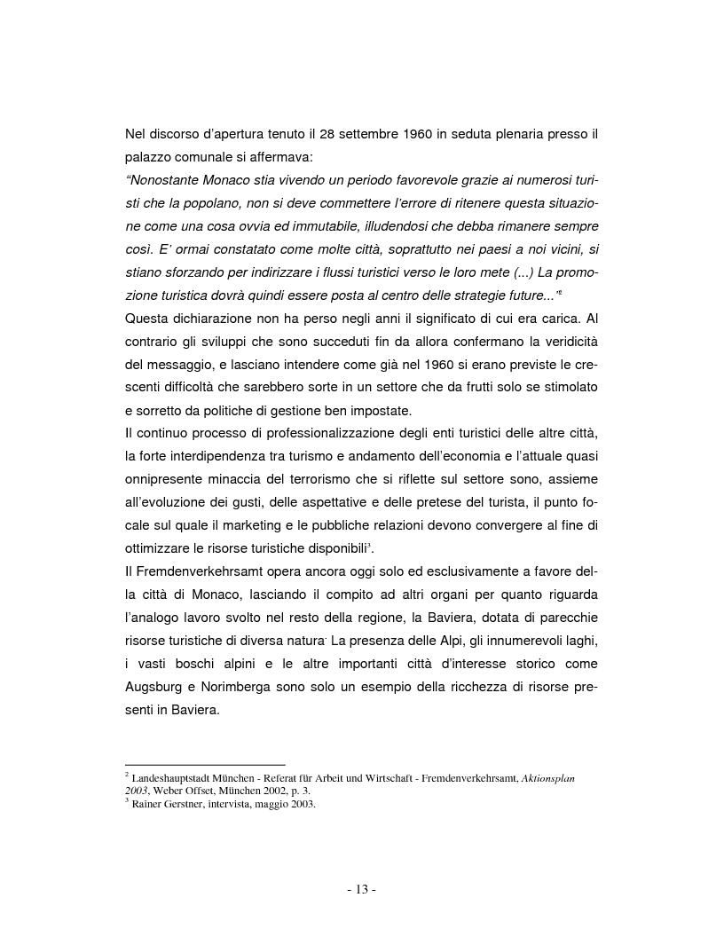 Anteprima della tesi: La promozione turistica di una località: il caso Monaco di Baviera, Pagina 3