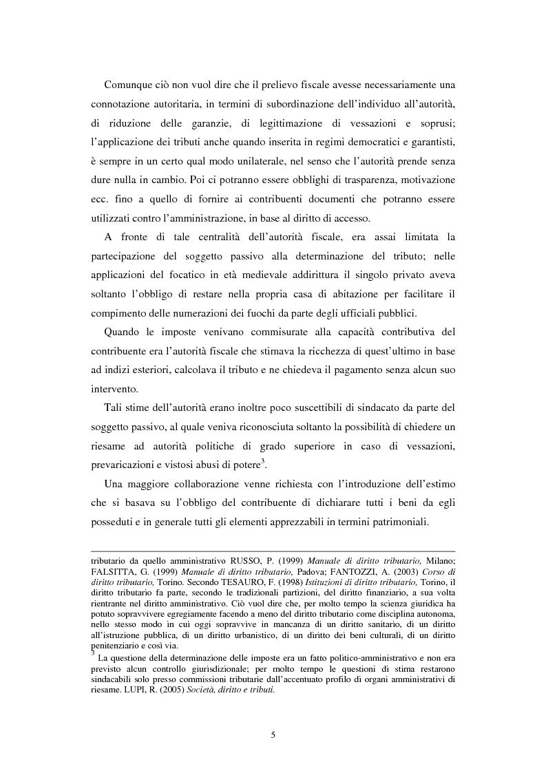 Anteprima della tesi: Imposte capitarie e tenore di vita ai fini del prelievo fiscale, Pagina 5