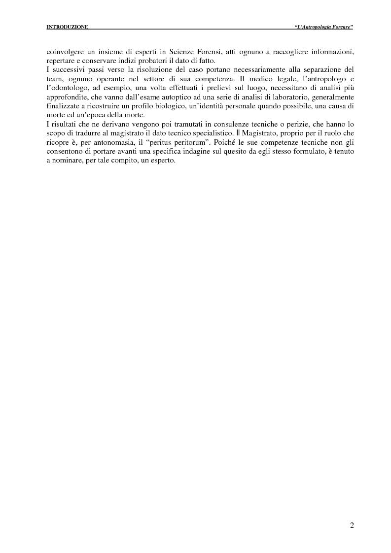 Anteprima della tesi: Cases report: dalla scena del crimine alle indagini di laboratorio, Pagina 2