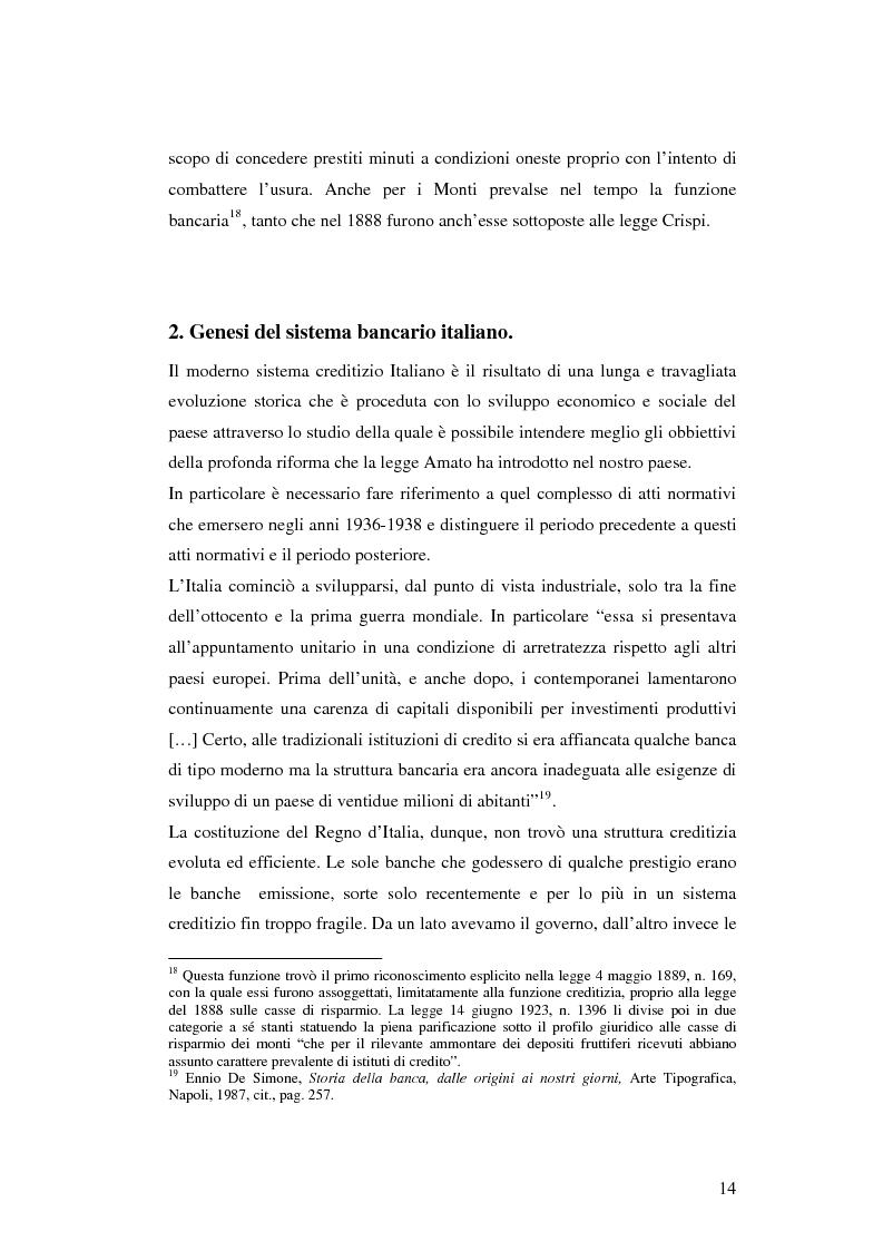 Anteprima della tesi: Fondazioni bancarie: evoluzione storica e analisi degli oggetti sociali, Pagina 13