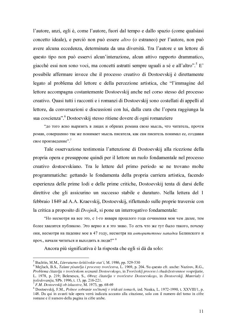 Anteprima della tesi: Il Dnevnik pisatelja di Dostoevskij: strategie di un genere ed effetto sul pubblico, Pagina 8