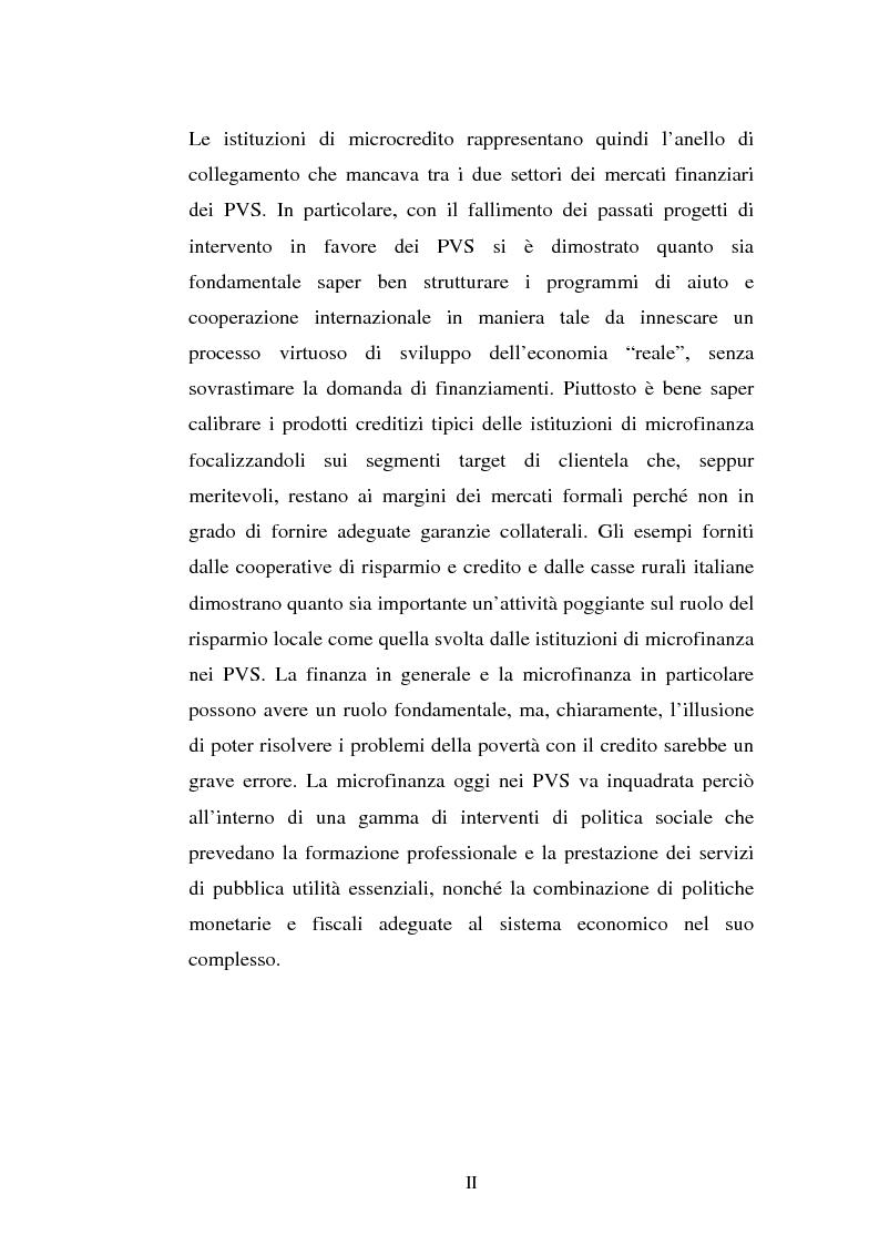Anteprima della tesi: La microfinanza e la sostenibilità economica del group lending, Pagina 2