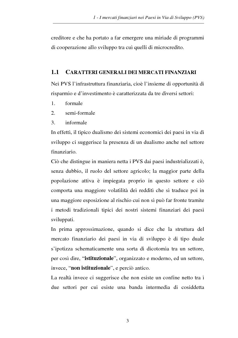 Anteprima della tesi: La microfinanza e la sostenibilità economica del group lending, Pagina 9
