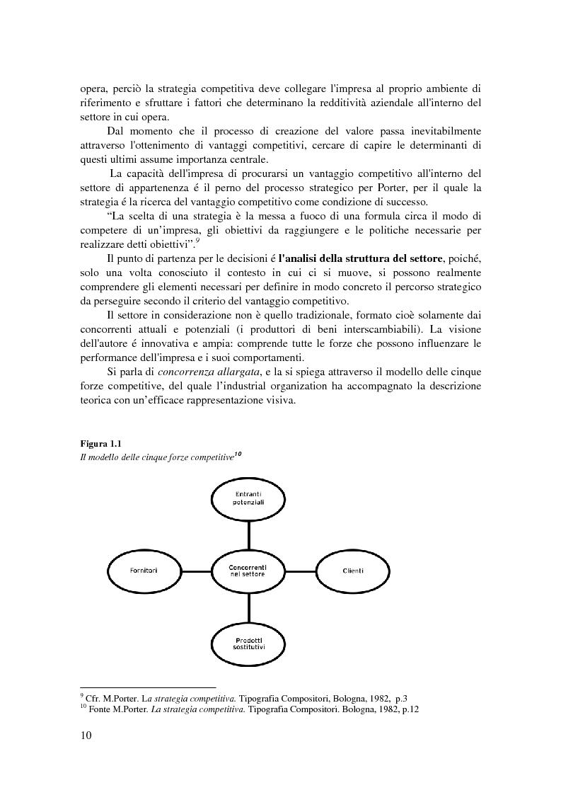 Anteprima della tesi: Conoscere, raggiungere, mantenere il vantaggio competitivo. Analisi di casi aziendali di successo: Ryanair, Illycaffé, Geox, Pagina 8