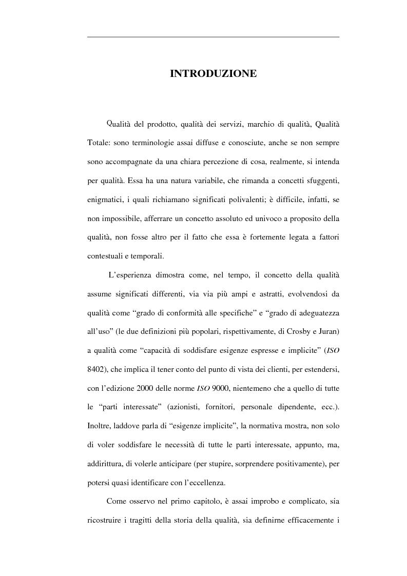 Anteprima della tesi: Scuola e Sistema Qualità. Un caso di studio, Pagina 1