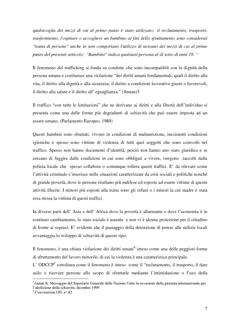 Anteprima della tesi: Le nuove frontiere dell'abuso: il traffico di minori, Pagina 2