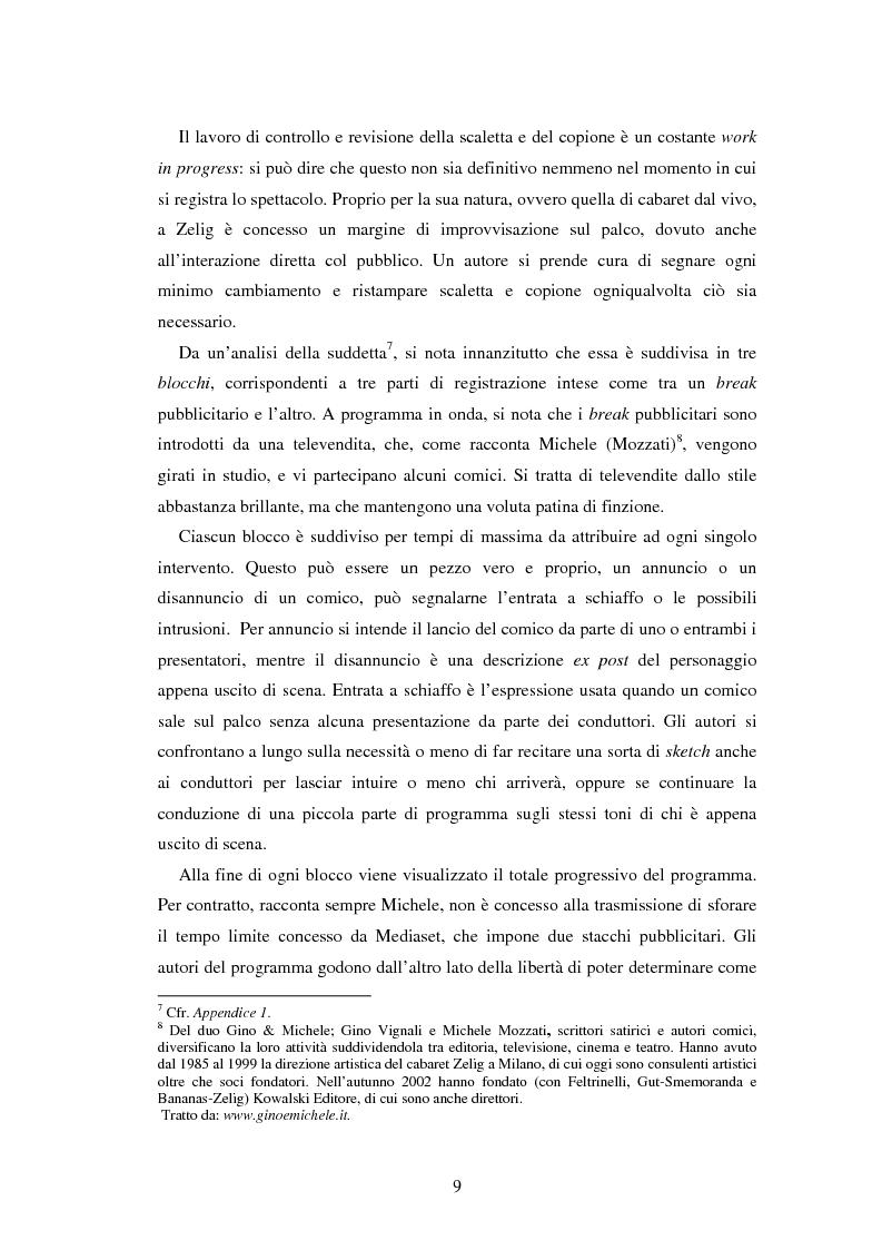 Anteprima della tesi: Il caso Zelig: da un successo televisivo a un fenomeno editoriale, Pagina 7