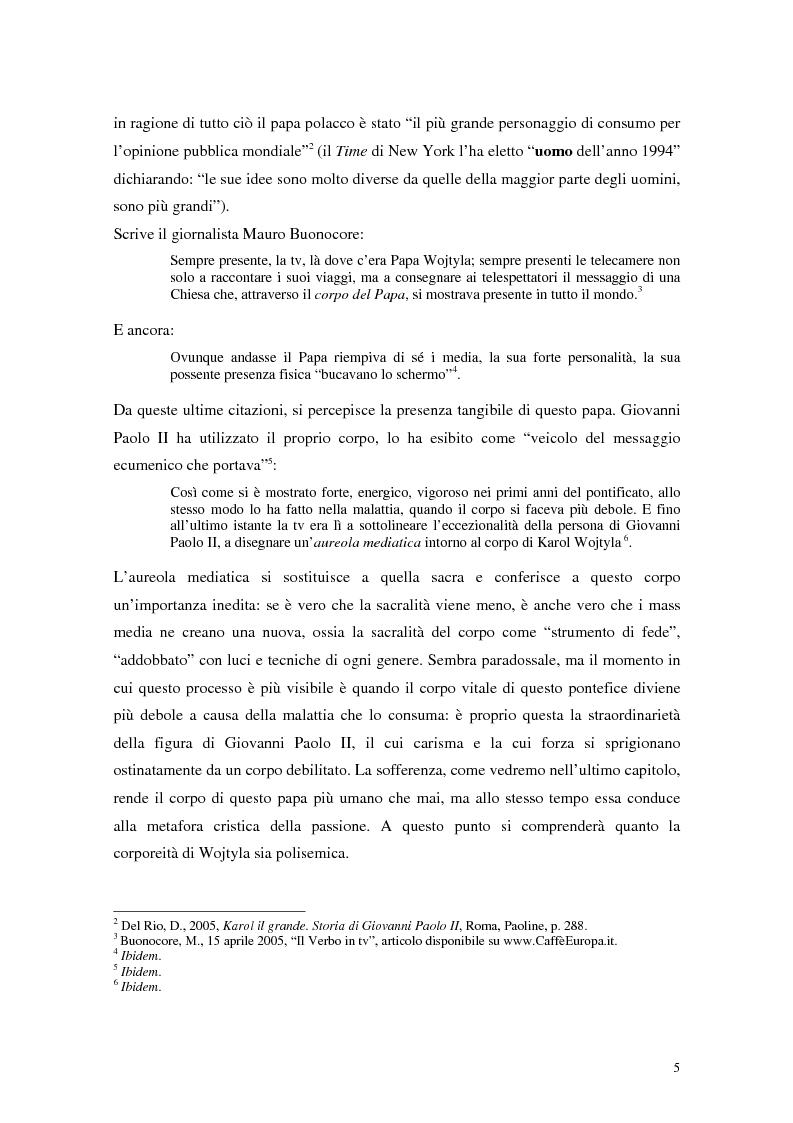 Anteprima della tesi: Mediatizzazione e materializzazione del sacro. Il caso di Giovanni Paolo II, Pagina 2
