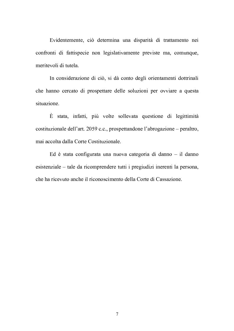 Anteprima della tesi: Equa riparazione dei danni da irragionevole durata del processo-La legge 24 marzo 2001, n.89 nel quadro della risarcibilità dei danni alla persona, Pagina 3