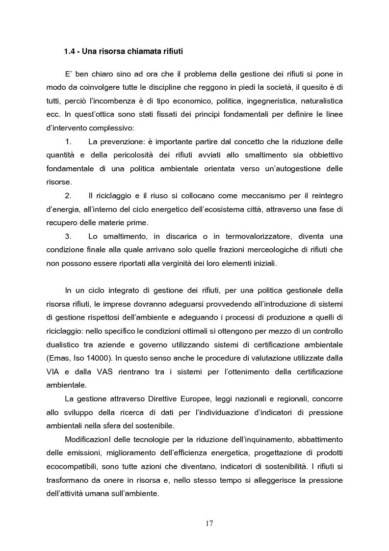 Anteprima della tesi: L'eliminazione dei prodotti di rifiuto dell'ecosistema urbano : un caso studio nel sistema Roma, Pagina 9