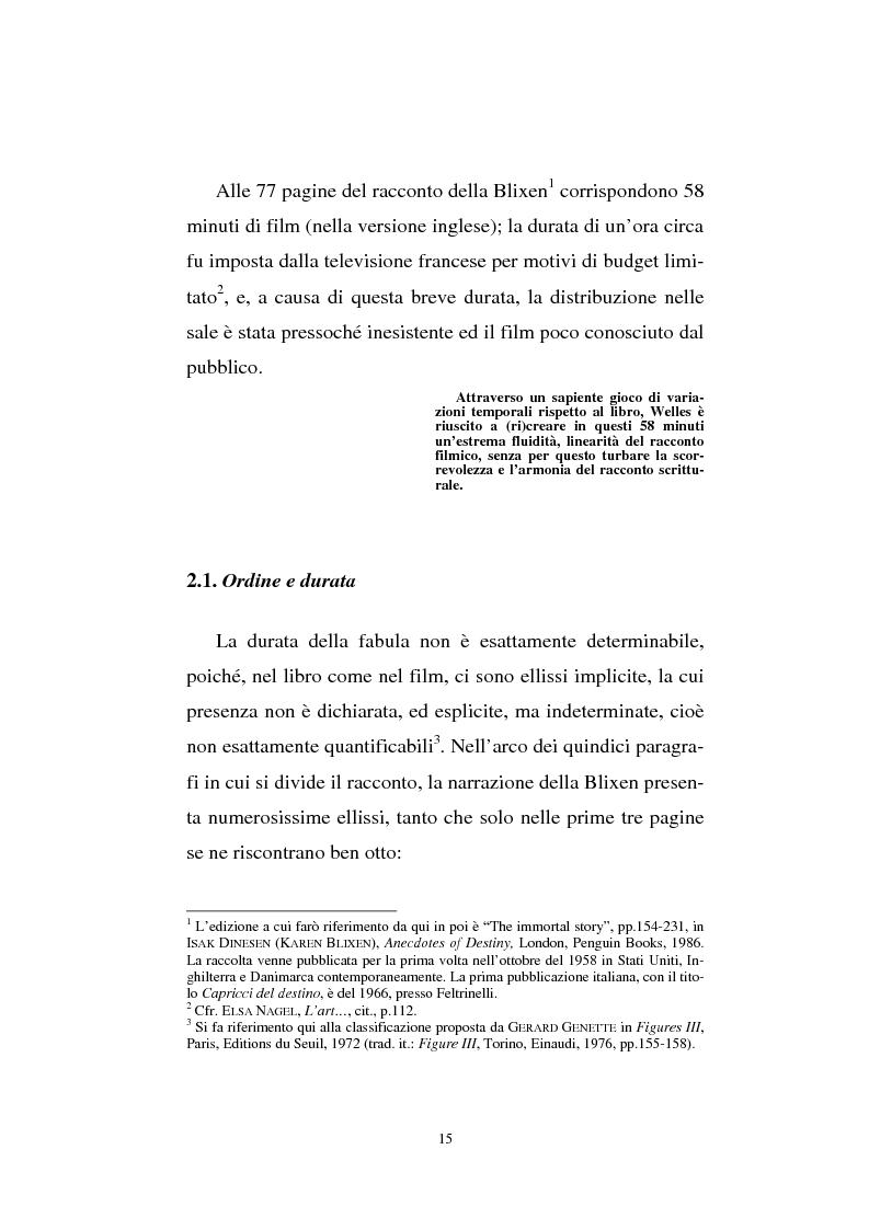 Anteprima della tesi: The immortal story: film e racconto. Studio narratologico, Pagina 13