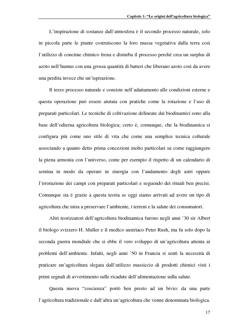 Anteprima della tesi: Studio di fattibilità per la costituzione di un marchio toscano per le produzioni biologiche, Pagina 9