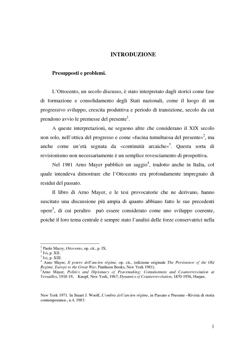Anteprima della tesi: L'aristocrazia europea nell'età contemporanea, Pagina 1