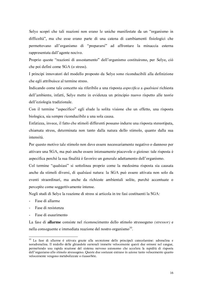 Anteprima della tesi: L'autoefficacia percepita come moderatore dello stress occupazionale: il caso Hitachi - Italia, Pagina 13