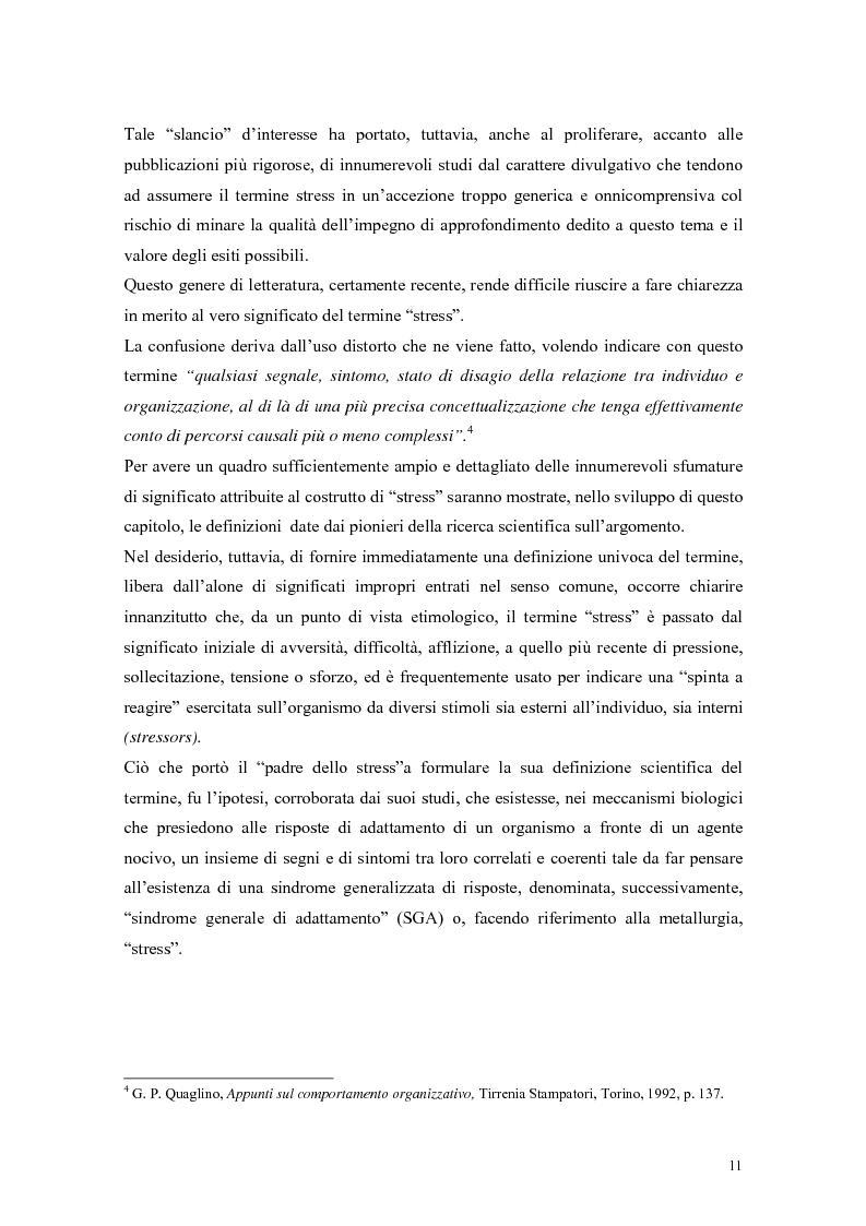 Anteprima della tesi: L'autoefficacia percepita come moderatore dello stress occupazionale: il caso Hitachi - Italia, Pagina 8