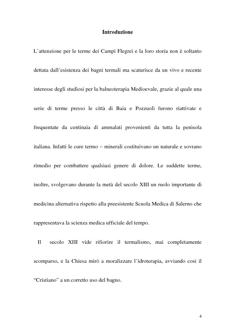 Anteprima della tesi: Itinerario termale da Pozzuoli a Napoli nel XIII secolo, Pagina 1