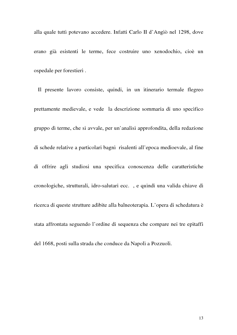 Anteprima della tesi: Itinerario termale da Pozzuoli a Napoli nel XIII secolo, Pagina 10