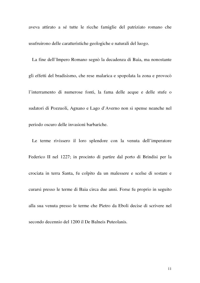 Anteprima della tesi: Itinerario termale da Pozzuoli a Napoli nel XIII secolo, Pagina 8