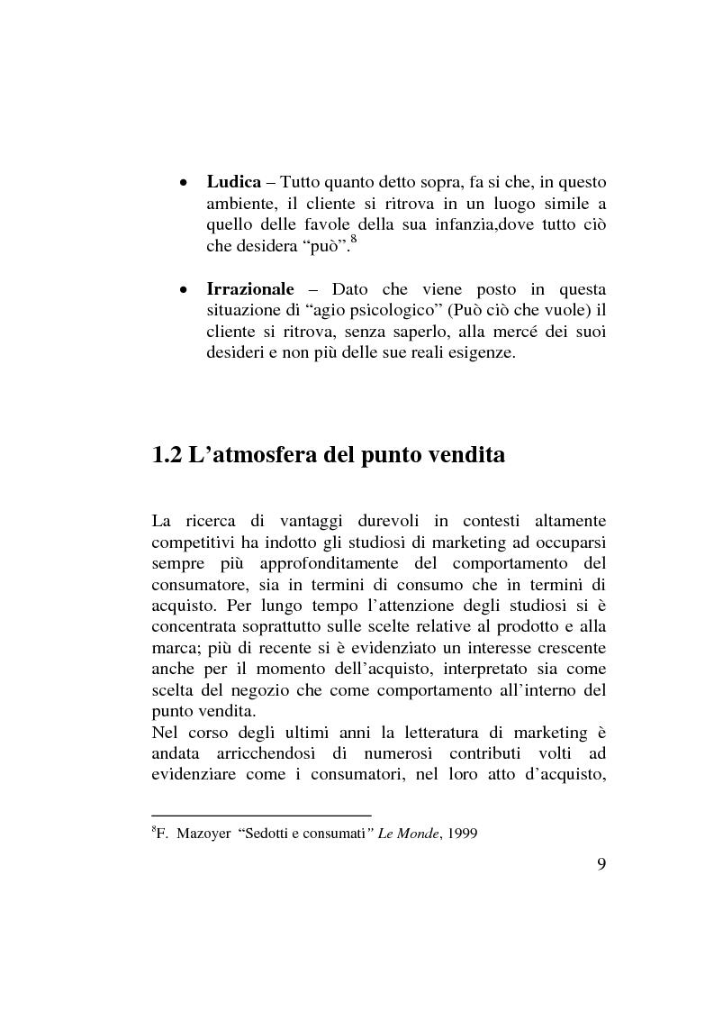 Anteprima della tesi: La leva uditiva nel marketing sensoriale. Analisi dell'effetto subliminale., Pagina 7