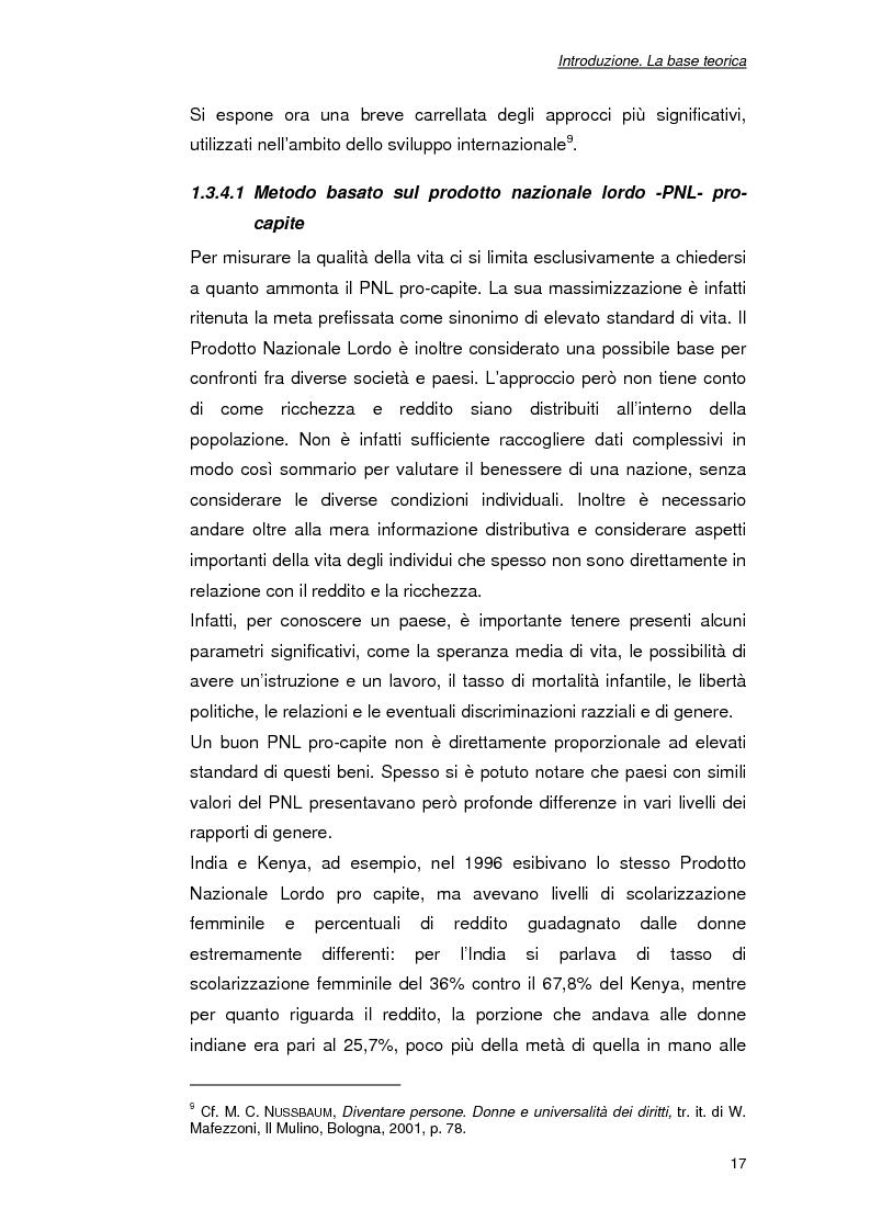 Anteprima della tesi: Lo sviluppo delle capacità : l'importanza del prendere parte. Progetti politici e sociali a favore delle donne nel Tamil Nadu (India), Pagina 7