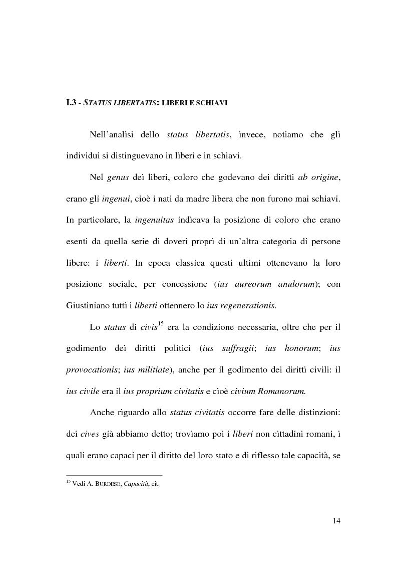 Anteprima della tesi: Art. 1 c.c.: La capacità giuridica. Significato ed evoluzione del concetto., Pagina 10