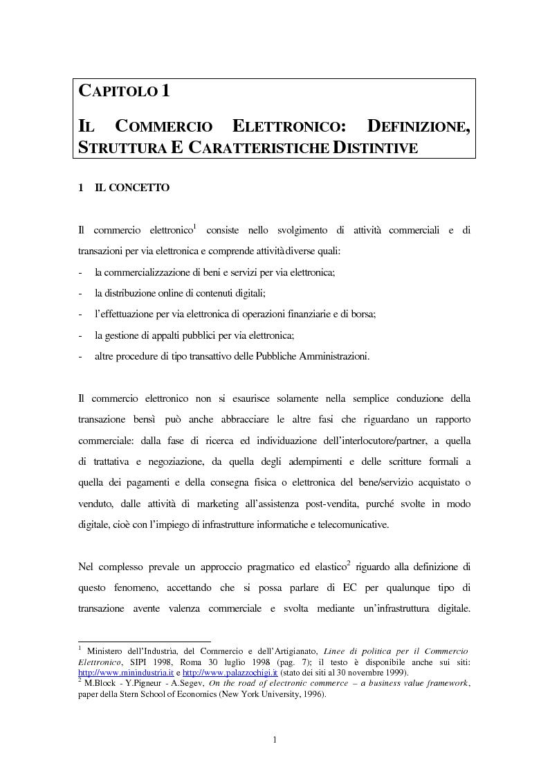 Anteprima della tesi: Il business online per le imprese di assicurazione, Pagina 1