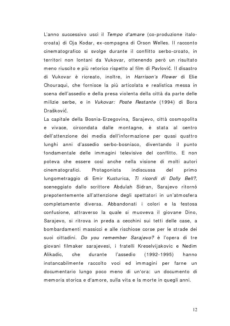 Anteprima della tesi: Schermi di guerra - Le guerre jugoslave (1991-1999) tra cinema, storia e società, Pagina 12
